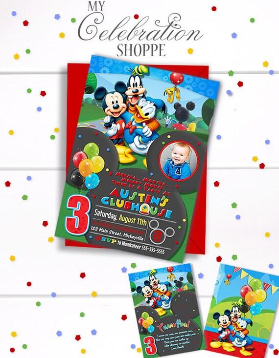 Mickey Mouse Invitation Mickey Mouse Mickey Mouse Birthday Clubhouse Clubhouse Invitations Clubhouse Invites Clubhouse Birthday Bday
