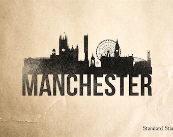 Manchester Skyline Rubber Stamp