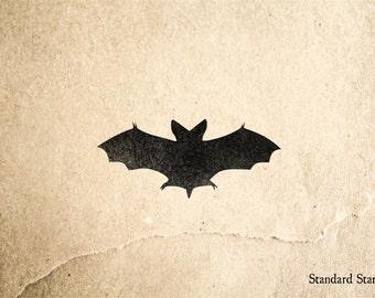 Halloween Bat Rubber Stamp