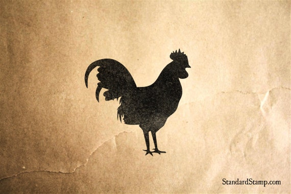 Rooster Rubber Stamp 2 X Inches