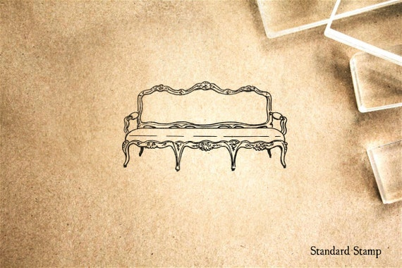 Sofa Rubber Stamp 25 X 15 Inches Custom Text