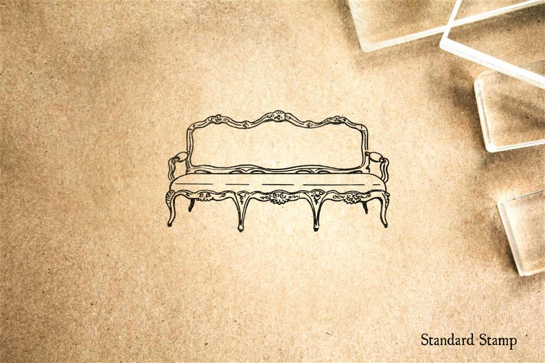 Sofa Rubber Stamp 2 X 1 Inches