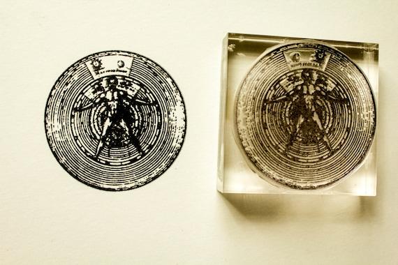 "Leonardo Da Vinci The Vitruvian Man 1/"" Scrapbooking Crafting Stickers"