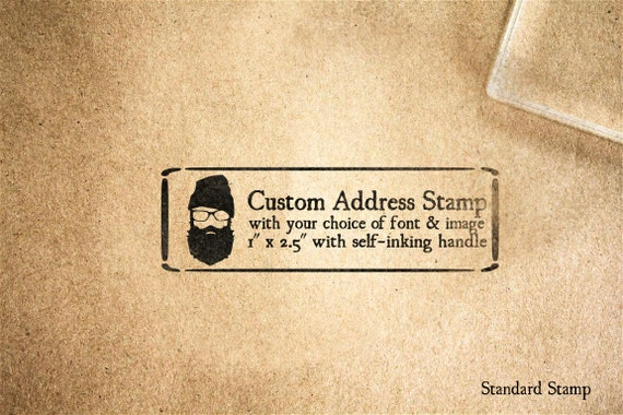 Custom Address Self-Inking Handle Master Rubber Stamp - 3 x 1 inches