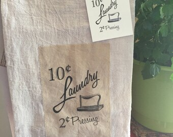Items similar to Apache Popup Camper Cotton FlourSack Tea Towel