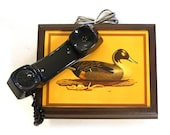 Duck Phone Vintage 80s Rotary Dial Analog Land Line Telephone Box