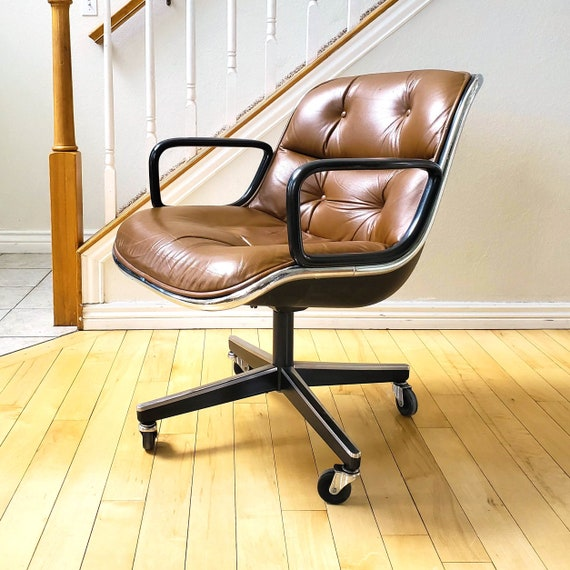Peachy Knoll Desk Chair Vintage Mid Century Leather Desk Chair Pabps2019 Chair Design Images Pabps2019Com
