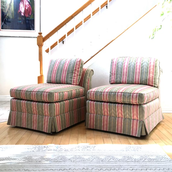 Surprising Two Hollywood Regency Slipper Chairs By Baker Furniture Matching Vintage Contemporary Modern Club Chairs Ibusinesslaw Wood Chair Design Ideas Ibusinesslaworg