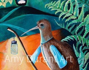 The Hermit (Tarot of the Birds) giclee print