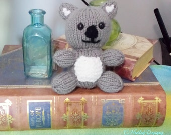Mini Knitted Stuffed Animal Koala - Toy, Baby Shower, Stuffed Animal, Nursery, Desk Companion, and more,