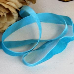 Vintage Teal Blue Grosgrain Ribbon Trim 1.5 Wide  2 Yards  Turquoise Aqua Altered Art Scrapbooking Costume Sewing Headbands