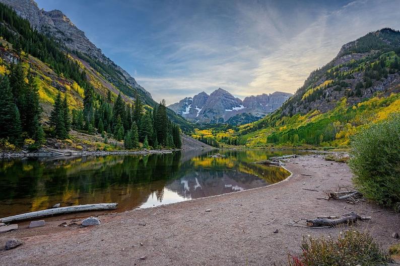 Landscape Photography Colorado Maroon Bells in Autumn