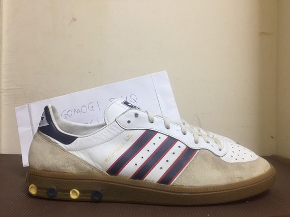 a2cf5c47bdcf5 Items similar to Vintage 80s Adidas Handball LXS rare sneakers UK12 ...