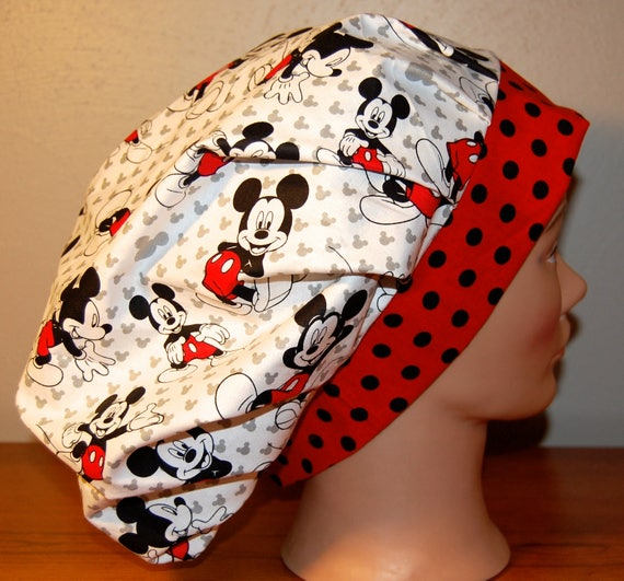 Women s Surgical Bouffant Scrub Cap Disney Mickey Mouse  3208610908cb