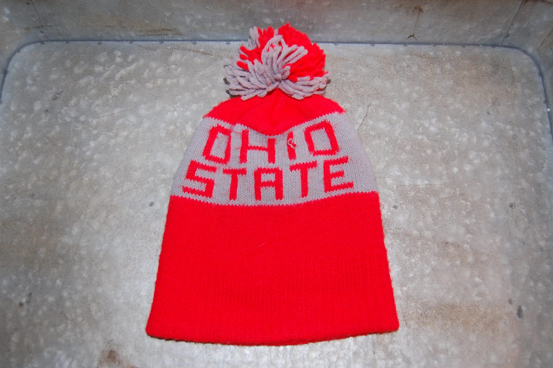 Vintage ohio state beanie hat with pom ski hat winter hat etsy jpg  3000x1995 Ohio university fa06e2c386a0