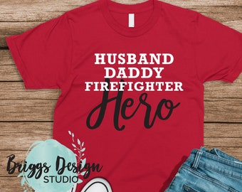 7d41a69a Firefighter Dad Shirt, Father's Day Gift, Firefighter gifts, Gift for Dad  Bella Canvas Shirt