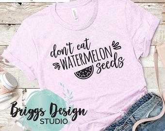 0361acd78bb1a Funny summer cute maternity shirt, don't eat watermelon seeds, pregnancy  announce, Bella Canvas Shirt