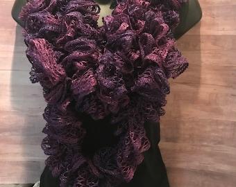 Crochet Frill Scarf