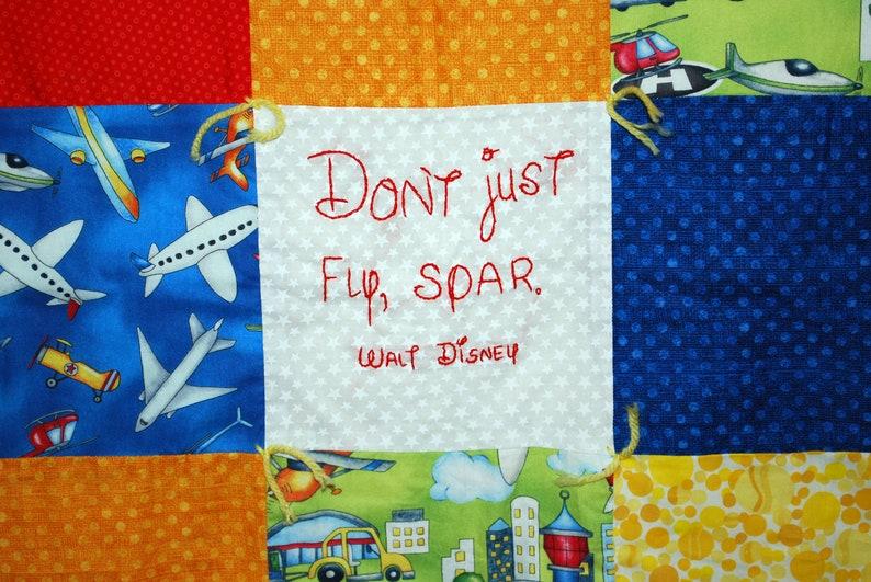 Airplane quilt