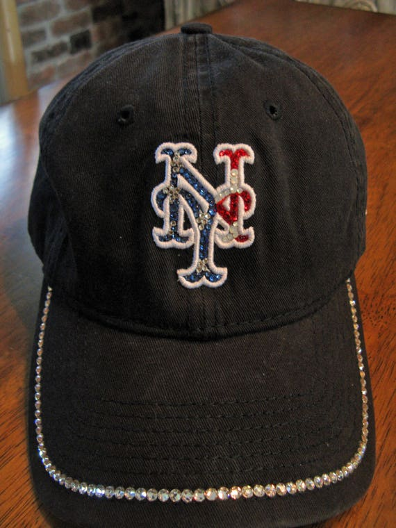 Bling PATRIOTIC METS CAP-Womens-Navy Blue-New York Baseball  97c648a5e8