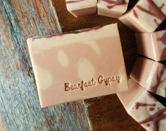 On Sale! Rose Clay - Goats Milk Soap - Rose Clay Facial Soap - All natural soap - PALM FREE SOAP - Organic Skin Care
