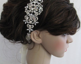 Wedding headband Rhinestone,Bridal hair accessories,Wedding hair accessories,Wedding hair band,Bridal headband crystal,Wedding hair jewelry