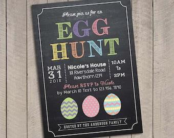 Egg hunt invitation / Easter egg hunt invitation / Easter egg hunt invite / Easter Egg Hunt Printable / Egg hunt invite