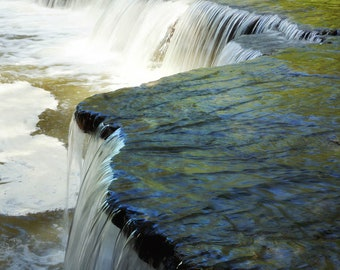 The waterfall at horseshoe falls in Ohio