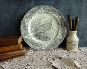 Vintage Adams Wild Turkey Dinner Plate The Birds of America Ironstone English Transferware Audubon