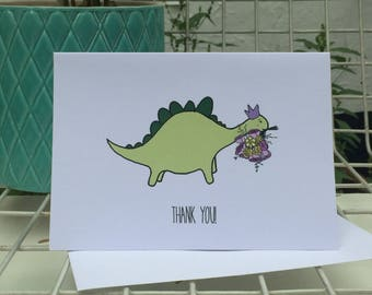 Dinosaur Thank You Note