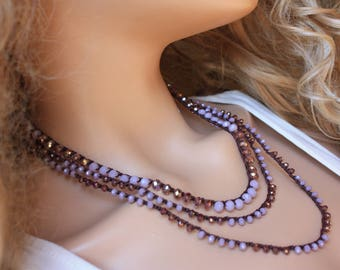 Romantic Crochet Wrap Bracelet& Necklace,Boho Chic Jewelry