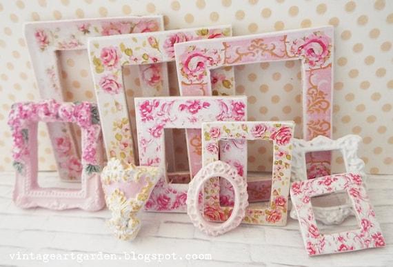 Casa De Muñecas Escala 1:12 amor y decoración de hogar palabra signos Shabby Chic