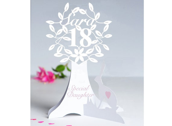or a special friend. 40th Personalised 3D Paper Cut Birthday Card for a Daughter,Sister,Niece