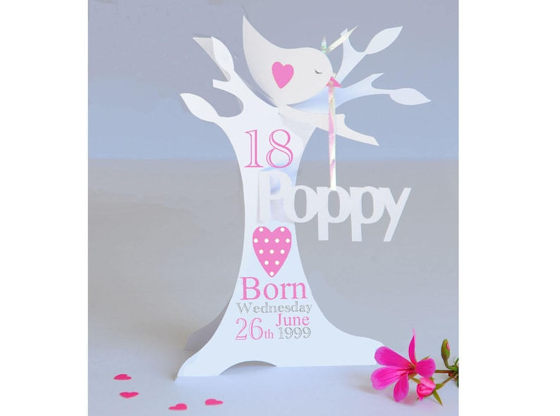 Personalised 3D Paper Cut Popup 18th 21st 40th Birthday Card