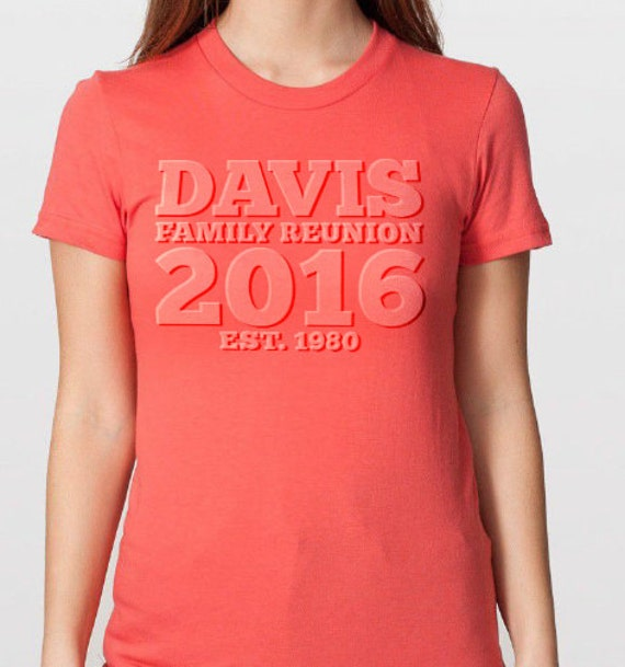 9d3e8b666f7 Personalized Family Reunion t-shirt design