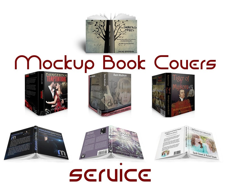 Open Book cover mock-up for e-books or KINDLE personnal Service   I DO IT  for you