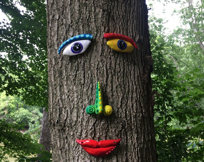 Featured listing image: Tree Face,Tree Decor, Gift Ideas,Garden Art Tree Art Outdoor Decor Yard Art Outdoor Christmas Decoration ,Christmas Gift Garden Sculpture