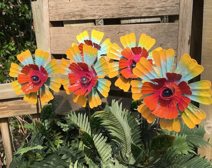 Featured listing image: Metal Garden Art,Flower Garden Stake,Metal flower Garden Stake, Flower, Metal garden Art, Garden Ornament, Metal Garden Decor,Mom's Gift