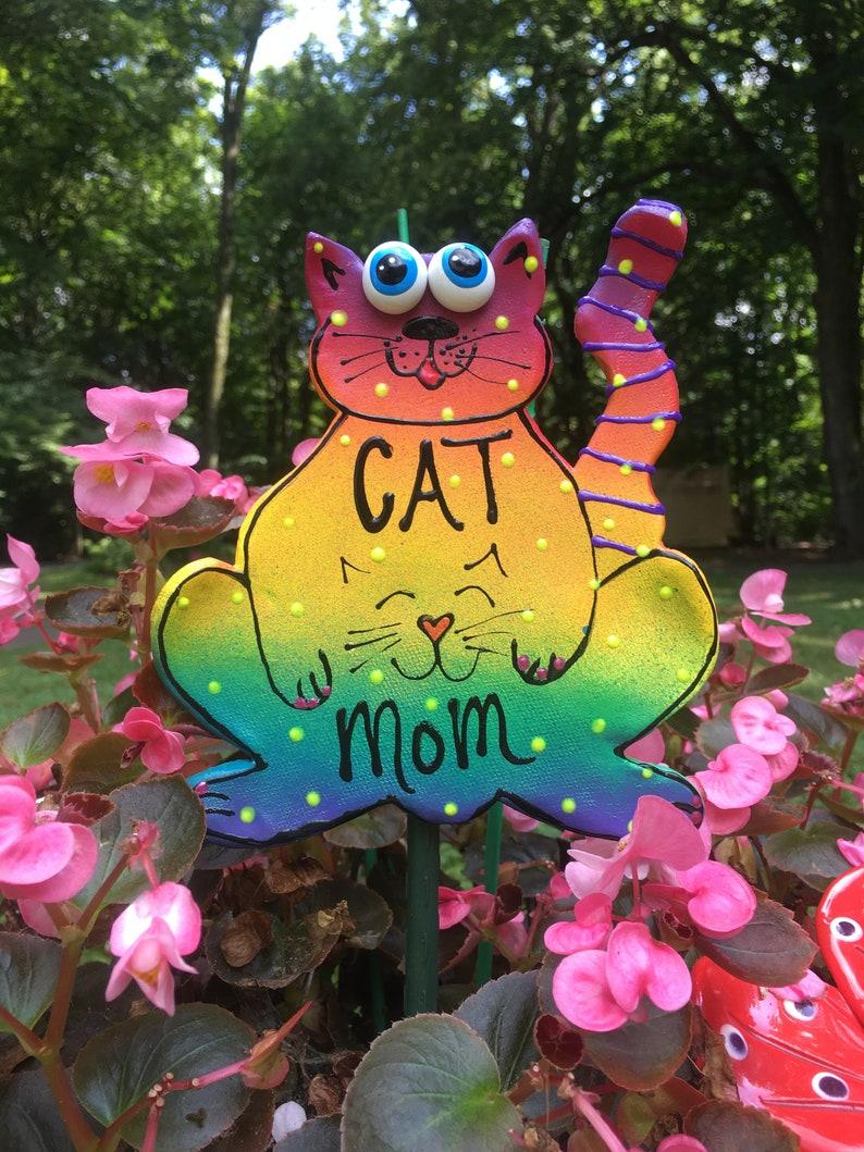 CAT,Garden Decor, Gifts For Gardeners, Garden Stakes, Garden Statues, CAT  Lovers, Gardening Gifts, Mothers Day Gifts, Outdoor Decor
