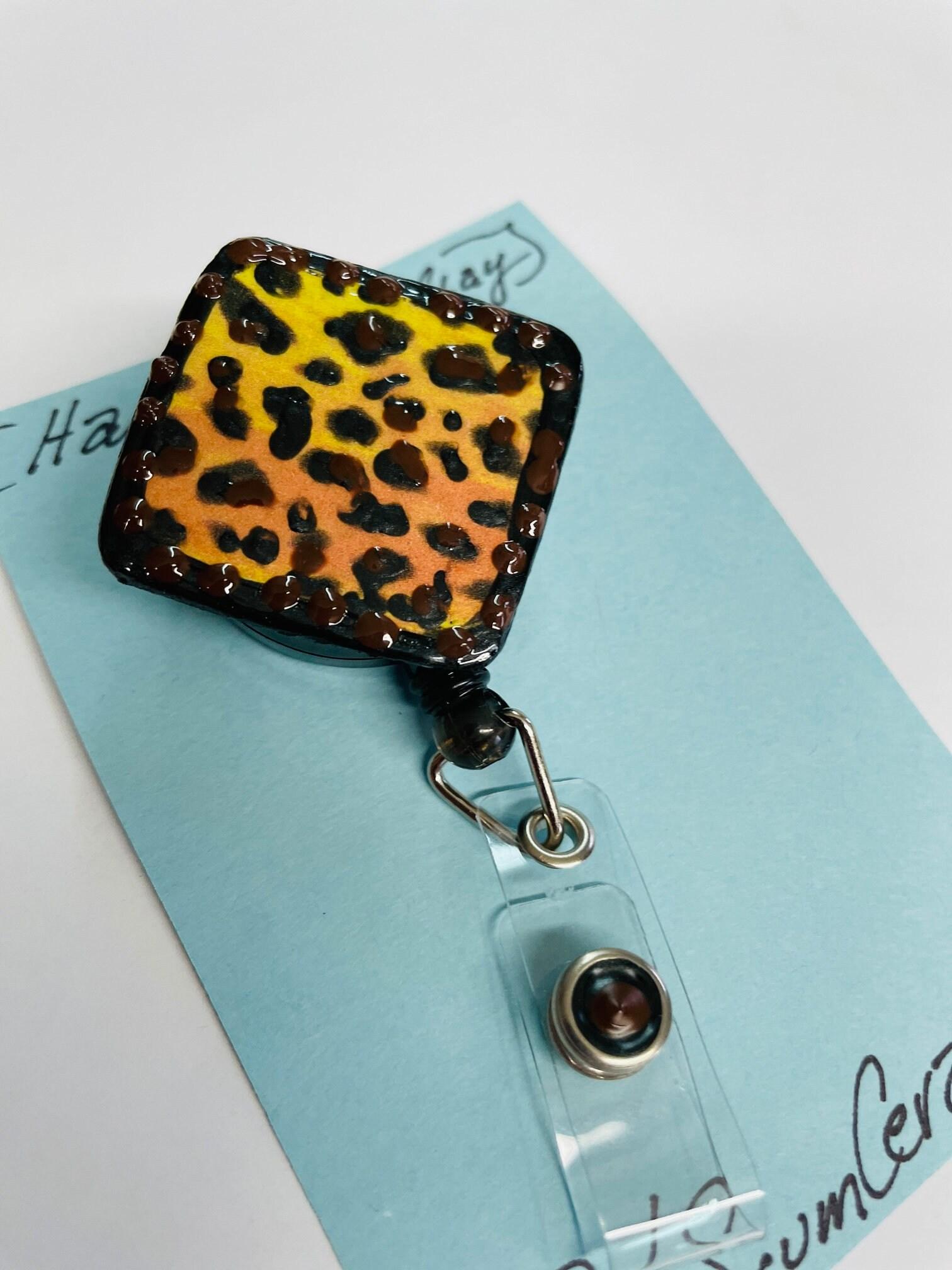 Leopard Heart Badge Reel