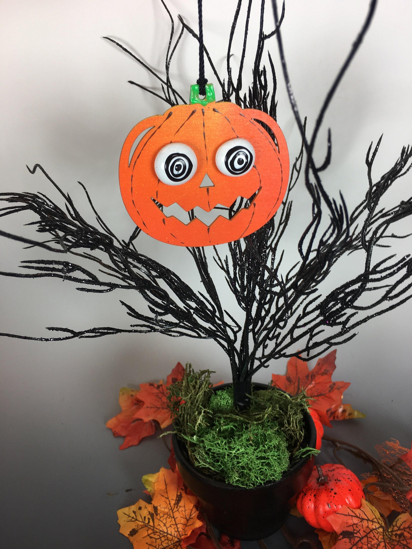 Pumpkin Ornaments Spooky Home Decor Jack O Lantern