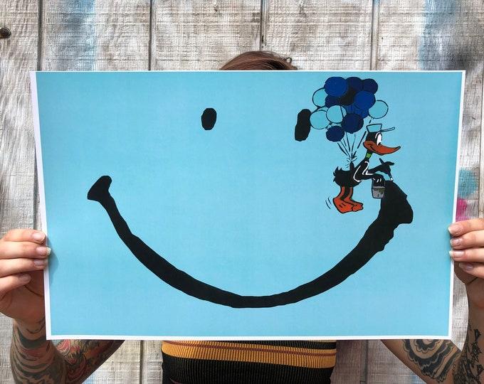 """happy 11"""" x 17"""" Print"""
