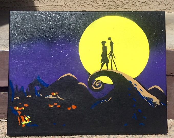 Nightmare Before Christmas original painting