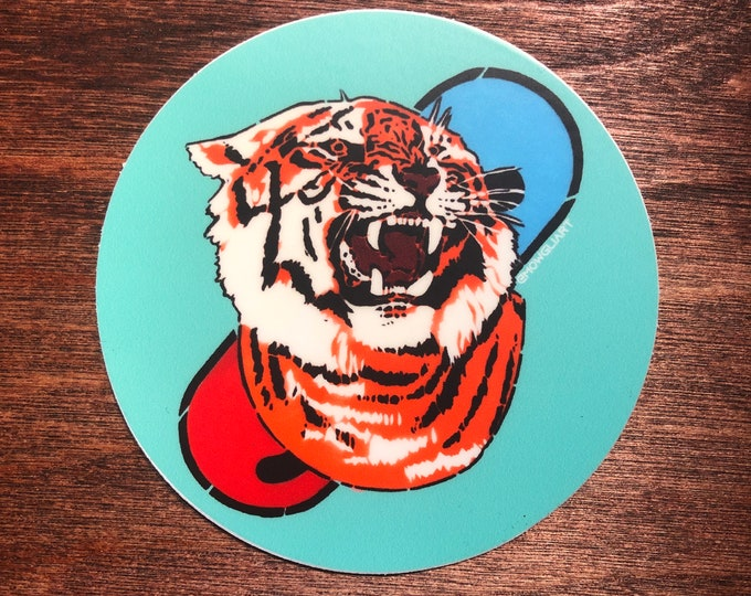 "TIGERPILL 3"" x 3"" sticker"