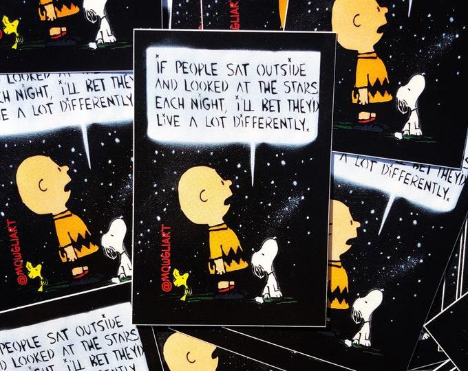 """Stars (CB) - 3"""" x 2"""" sticker"""
