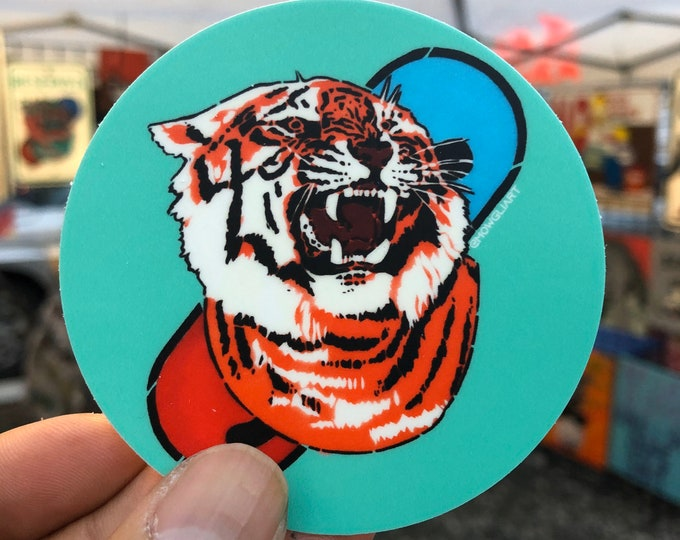 "TIGERPILL - 3""x3"" circle vinyl sticker"