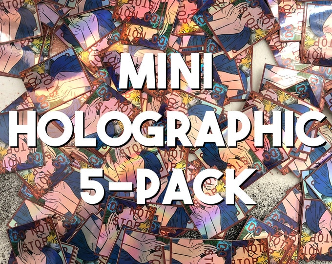 5 HOLOGRAPHIC STICKER PACK