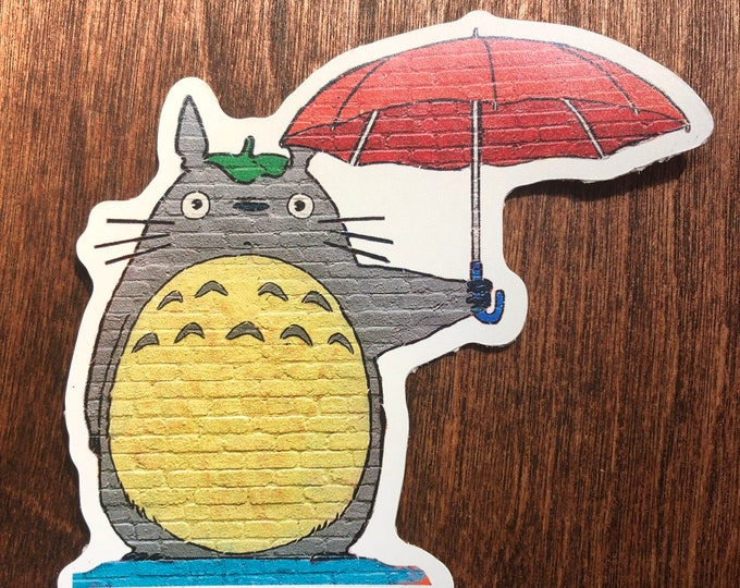 "King Totoro 3"" x 3"" sticker"