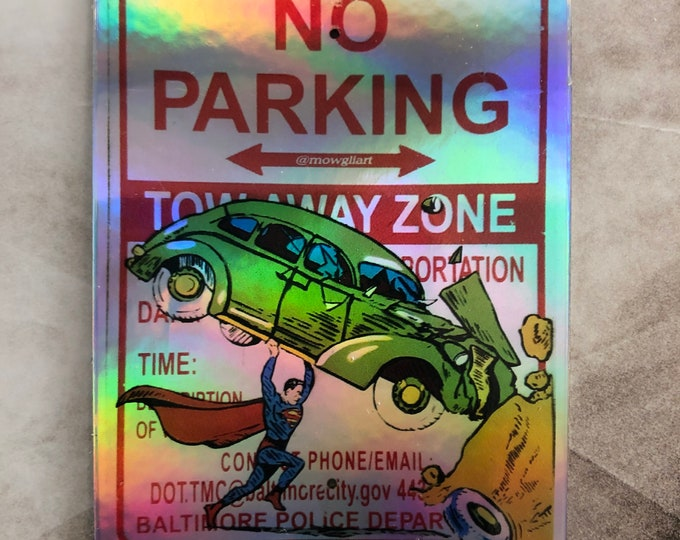 """Action 1 3"""" x 2.3"""" holographic sticker"""