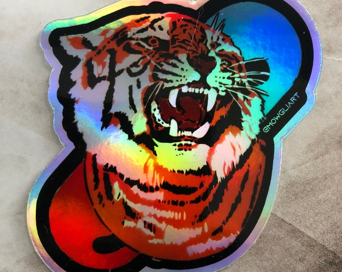 "TigerPill 3"" x 3"" holographic sticker"
